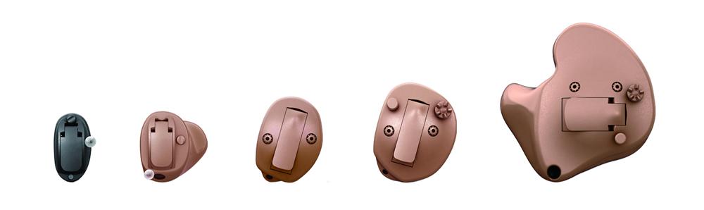 耳あな型の補聴器